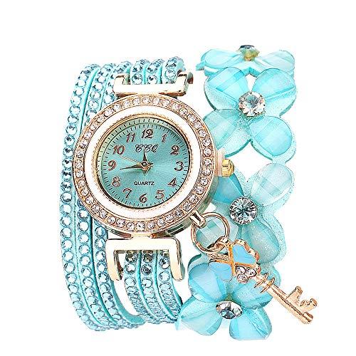 Orologi Maschili Fiori Di Ginevra Orologi Alla Moda Elegante Quarzo Braccialetto Ladies Diamante Watch