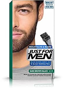 Just For Men Pflege-Brush-In-Color-Gel für Bart, Schnurrbart, Schwarzbraun