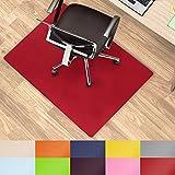 Office Marshal® alfombrillas de colores para usar debajo de la silla multiusos para la protección del suelo de la oficina–Tamaño y color seleccionable, rojo