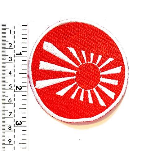 Parche bordado bandera Japón emblema sol japonés