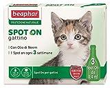 Beaphar protector natural de gato (3 Pipetas-) plaguicida solución spot-on para gatos y gatos a protección natural Talla:gattino