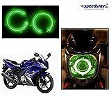 #9: Speedwav Bike Halo CCFL Tube Angel Eyes Light GREEN-Yamaha R15