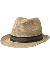WITHMOONS Cappellini da baseball Cappello Fedora Hat Summer Cool Paper  Straw Trilby Band For Men CR6952 c69eda113dac