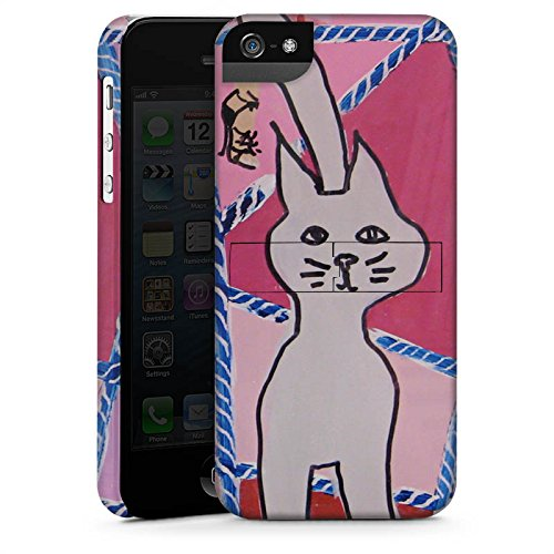 Apple iPhone X Silikon Hülle Case Schutzhülle Katze Cat Kitty Premium Case StandUp