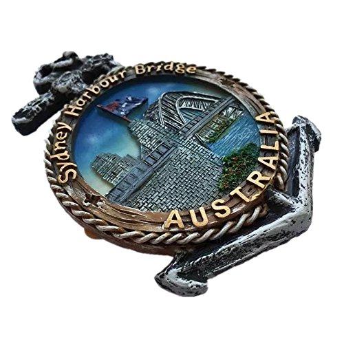 Harbour Bridge Sydney Australien Kunstharz 3D starker Kühlschrank Magnet Souvenir Tourist Geschenk Chinesische Magnet Hand Made Craft Creative Home und Küche Dekoration Magnet Sticker