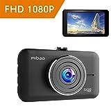 Mibao Dash Cam Telecamera per Auto 1080P Dashcam Obiettivo Grandangolare di 170 Gradi, Visione Notturna, Rilevatore di Movimento, Registrazione in Loop, Monitor di parcheggio, G-Sensor e 3' Schermo LCD