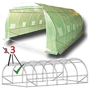 6m x 3m der st rkste in seiner kategorie folientunnel gew chshaus treibhaus foliengew chshaus. Black Bedroom Furniture Sets. Home Design Ideas