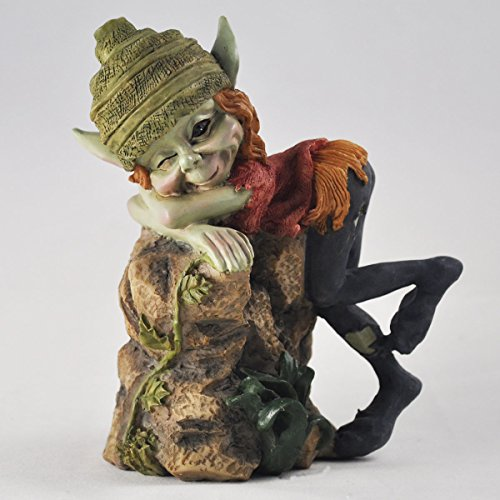 4-Pixie-Children-Playing-Green-Garden-Home-Decor-Fun-Quirky-Gift-Figurine-Anthony-Fisher