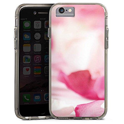 Apple iPhone 7 Plus Bumper Hülle Bumper Case Glitzer Hülle Flower Blume Orchideenblaetter Bumper Case transparent grau
