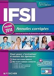 IFSI Annales corrigées Concours 2014 (Concours Paramédical)