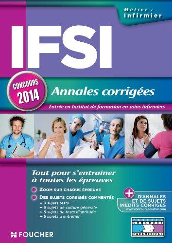 IFSI Annales corrigées Concours 2014