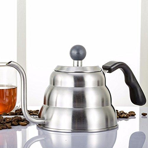 Pinkdose® 2017 New Arrival V60 Drip Coffee Kettle 1200Ml Percolators Tea Pot 304 Stainless Steel Dripper Server