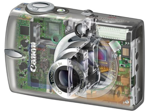 Canon Digital IXUS 700 Digitalkamera (7 Megapixel)