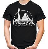 Mordor Männer und Herren T-Shirt | Spruch Vintage Fun Film Geschenk (L, Schwarz)