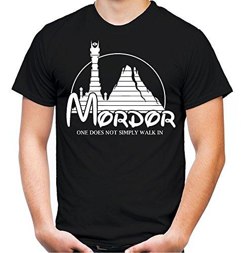 Mordor Männer und Herren T-Shirt | Spruch Vintage Fun Film Geschenk (XXXXL, Schwarz) (Lustige Star Wars Kostüm Ideen)