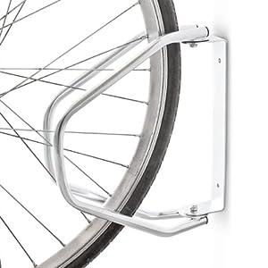 Relaxdays Posto per Parcheggiare La Bicicletta a Parete, Metallico, Inclinabile, 32.5 X 28.5 X 9 cm 8 spesavip