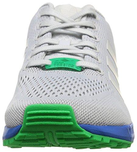 adidas ZX Flux, Scarpe da Ginnastica Unisex – Adulto Grigio (Clear Grey/Clear Grey/Bright Royal)