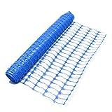 True Products B1005F-Plastikgitter-Sicherheitszaun-Filetarbeits-Rolle, 4 kg, 50 m, Blau
