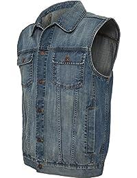 Ärmellose Herren Jeans Weste (Denim stonewashed)