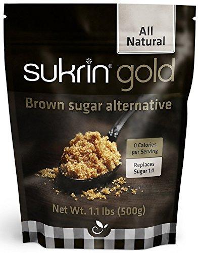 SUKRIN Gold 500g, die Alternative zu braunem Rohrohrzucker, viel Geschmack, wenig Kalorien