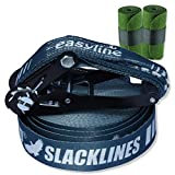 BUZZARD easyline XL Slackline-Set 20m mit Baumschutz 120 cm - Made in Germany