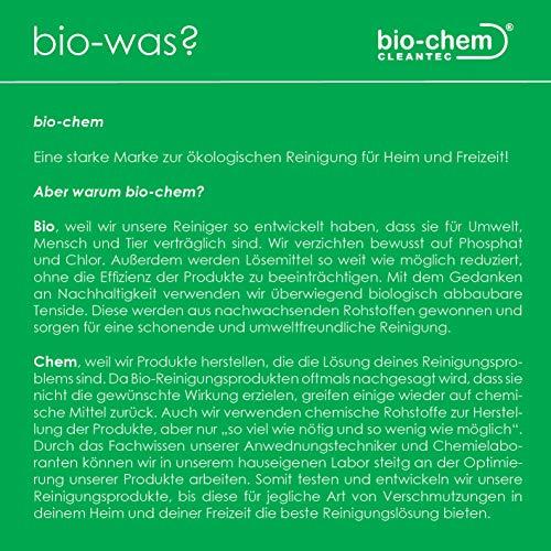 bio-chem® HAAR-WEG Abfluss-Frei | 1000 ml | Abflussreiniger | Rohrreiniger | Rohrreinigung | Rohrfrei | Abflussrohr | Geruchskiller | Entfernt und löst hartnäckigste, organische Verstopfungen - 5