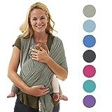 Echarpes de portage 5-en-1 pour les nouveau-nés | Le cadeau parfait pour la mère et le père 2018 | Porte-bebé BabyChamp