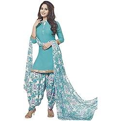 Ishin Women's Synthetic Dress Material (Ddrrjgr-Rmzm9058_Blue_One Size)