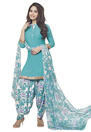 Ishin Synthetic Blue Party Wear Wedding Wear Casual Daily wear Festive Wear...