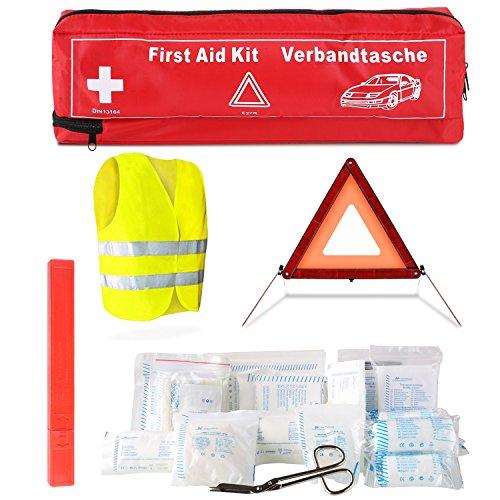 erste hilfe auto set FEMOR Erste Hilfe Set 41PCS Auto Notfall Kit, Medizinische Tasche Reise Notfall Tasche First Aid Kit