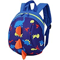 Mochila para niños con diseño de dinosaurio, con arnés de seguridad y cuerda antipérdida para