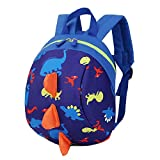 Cartoon Children Harness Rucksack with Anti-loss Rope , Anti-packet Loss Backpack, Toddler Boys Girls Kids Rucksack With Reins Preschool Travel Outdoor Bag (Dark Blue)