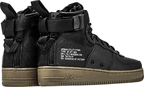 Nike Sf Af1 Mid, Chaussures de Gymnastique Homme black, black-dark hazel