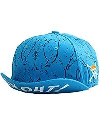 One Piece Hip-Hop Kappe Baseballkappe Unisex Hut in Blau und Orange