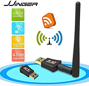 yan 150M USB WIFI Wireless LAN Adapter w// Long Range 5dBi Antenna for Desktop Comput
