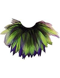 Honey B's Halloween Witch Tutu Skirt 6 Layers Black Purple Green Womens Fancy Dress