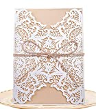 50 stück EinladungsKarten Hochzeitskarten Glückwunschkarten, DIKETE Geschenk Mitbringsel Karten für Hochzeit Geburtstag Kommunion Taufe Party