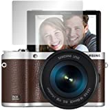 """2 x Slabo screen protector Samsung NX300M screen protection film protectors """"Crystal Clear"""" invisible MADE IN GERMANY"""