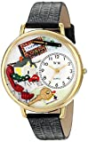 Whimsical Watches Unisex G0610006 Realtor Black Leather Watch best price on Amazon @ Rs. 844