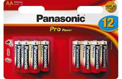 Panasonic pro power Alkaline Batterien aa, Panasonic pro power Aa-Batterien, Batterien 12ALKALINE 12 Pack Aa Alkaline-batterien