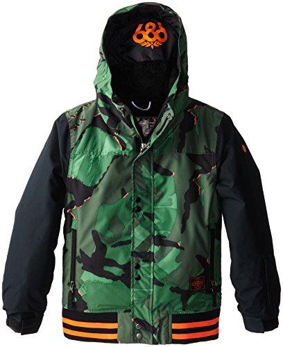 c Varsity Jacke Junior, Jungen, Green Camo Glo (686 Snowboard Jacke Jungen)