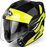 REFU31L - Airoh Rev Fusion Flip Front Motorcycle Helmet L Yellow
