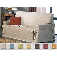 Eysa - Funda de sofá con lazos margot, medidas 3 plazas, color marrón