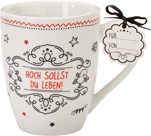 Sheepworld 59266 Lieblingstasse Hoch sollst du leben, Tee-Tasse, mit Geschenk-Anhänger (Adressbuch-frauen)