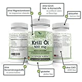 VITA1 Krill Oil 500mg • 60 Capsules (3-Weeks-Supply) • Rich of Omega-3 Fatty acids EPA & DHA • Made in Germany