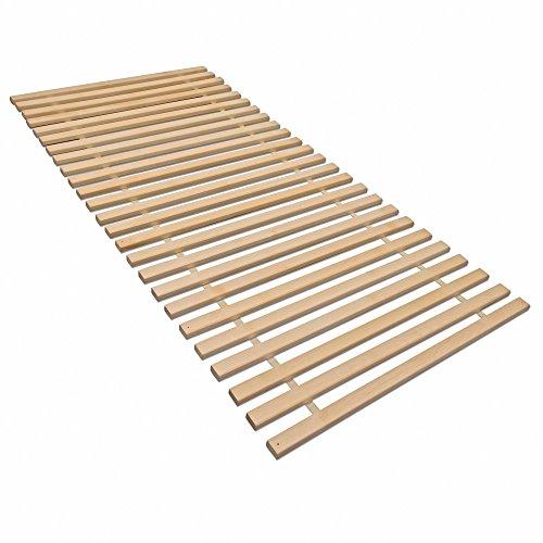 madera Rollrost XXL mit 23 extra stabilen Leisten aus massiven Buchenholz, belastbar bis ca. 280 kg - Grösse 90x200