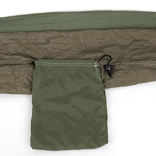 Hängematte Camping Hammock Single/Double Parachute, leicht und tragbar, mit extra Schlafaugenmaske Augenbinde Blindfold - 9