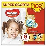 Huggies Ultra Comfort Pannolini Bambini Unisex, Taglia 6 (16-30 Kg), Confezione da 102