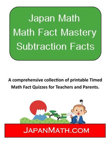Japan Math Math Fact Mastery Subtraction Facts: A Systematic approach created by Japan Math for Learning Subtraction Facts