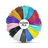 3D Pluma Filamento Rellenar PLA - 22 Colores 220 Meters 5 Brillo en la Oscuridad 5 Colores...
